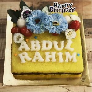 Single Pulut Kuning Cake - Square with Name